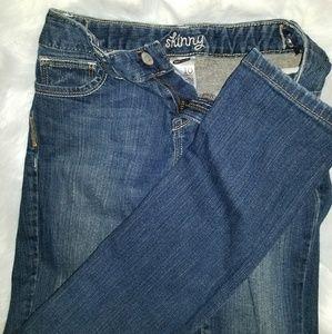 Girls size 10 Old Navy dark denim Skinny  jeans